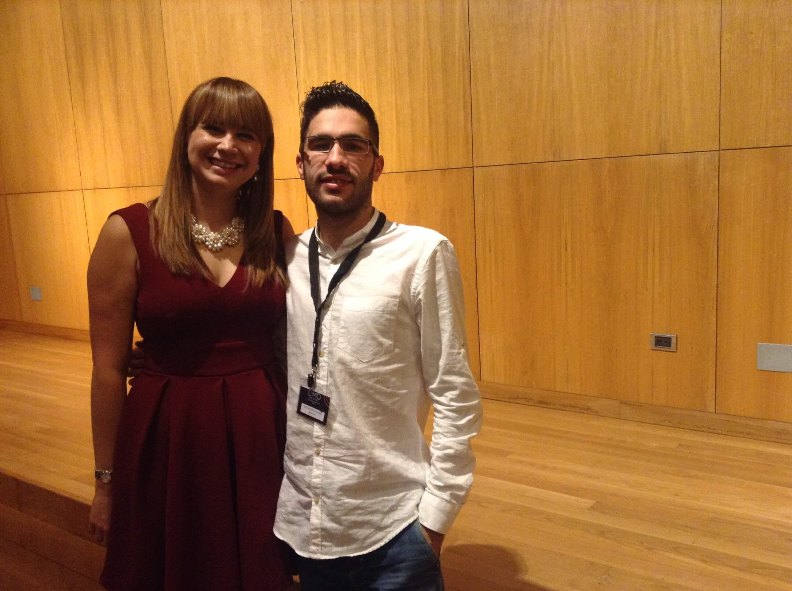 Con Vilma Nuñez