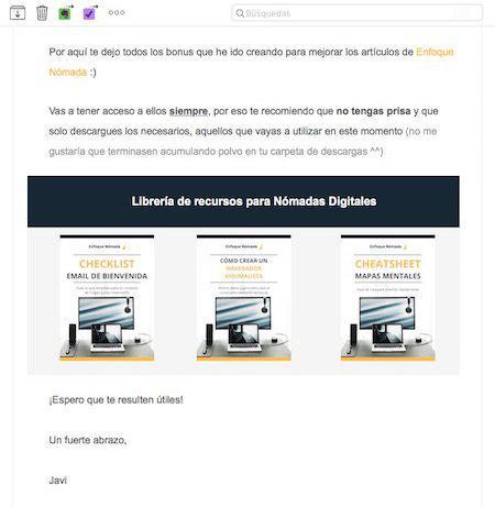 Email autoresponder para librería de recursos privada