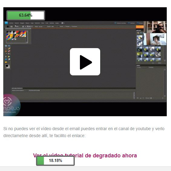 email marketing enlace al video o a la imagen