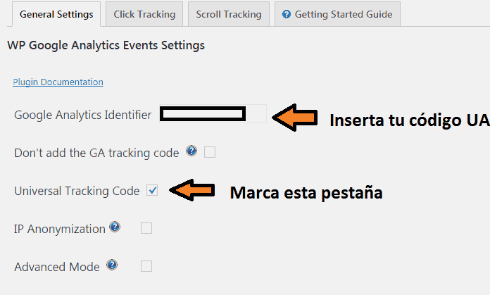 plugin wp google analytics events